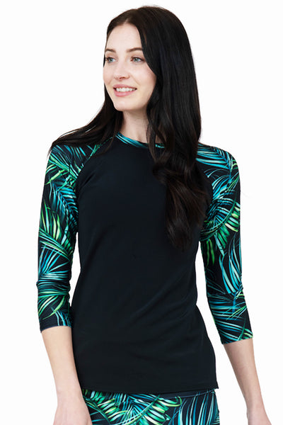 Tropical Leaves Rashguard Top
