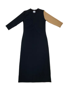 Ladies 1/2 Zip Bronze Maxi Dress
