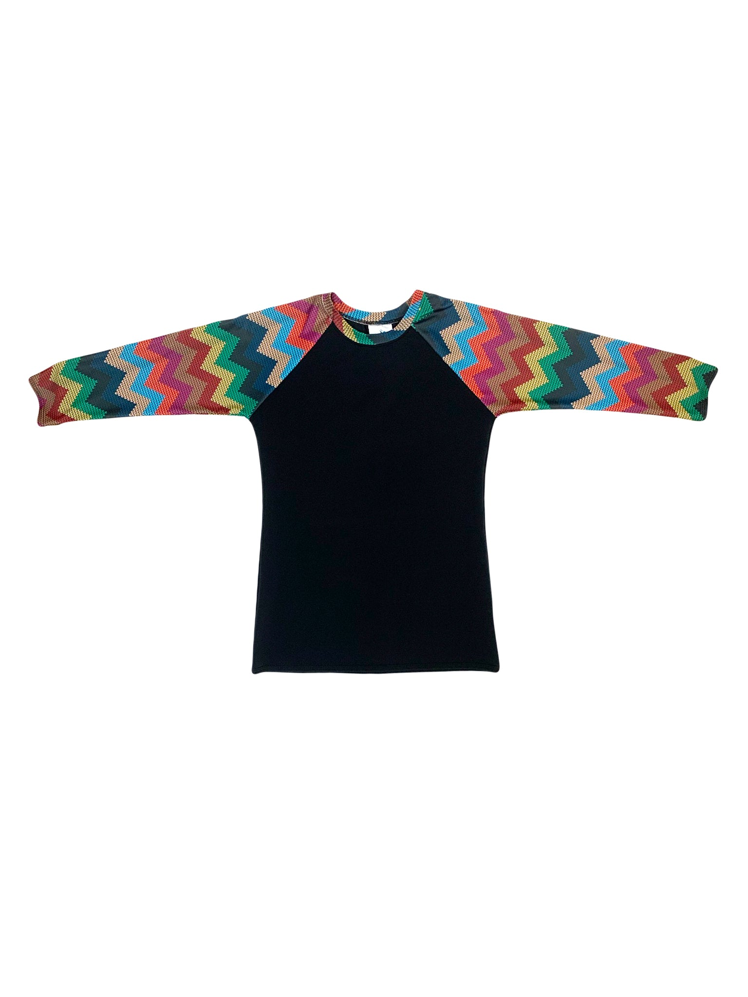 Black Missoni Sleeve Swim Top