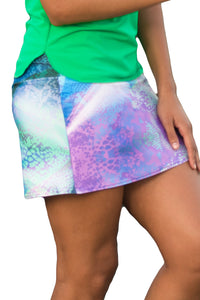 Iridescent Mini Swim Skirt