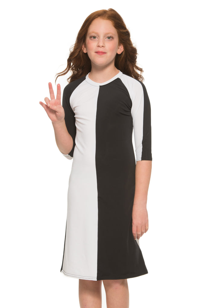 Kids Black White Half Half Dress Undercover Waterwear