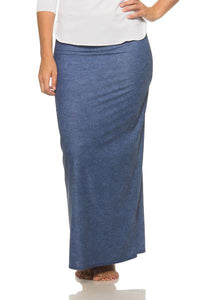 Denim Maxi Skirt