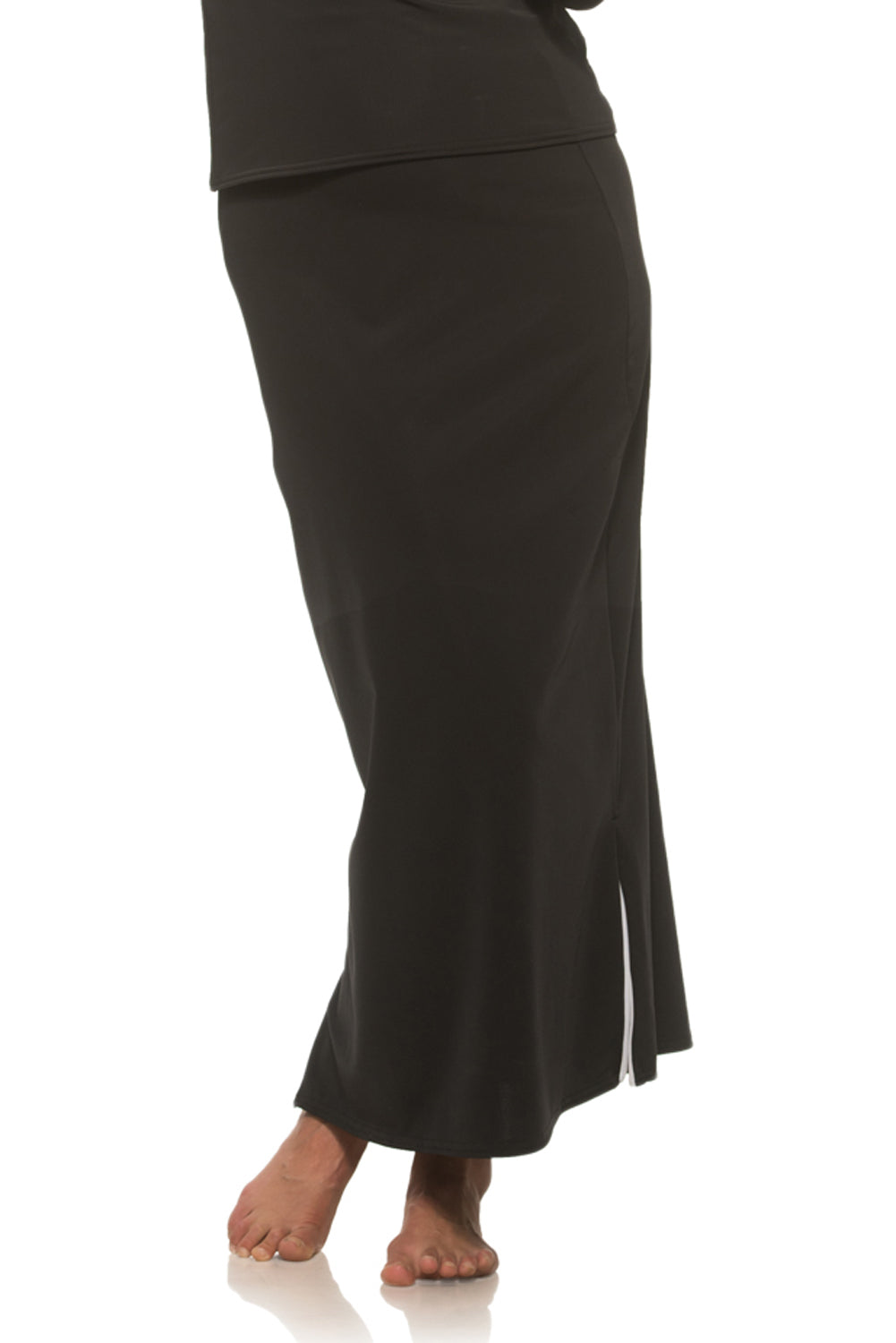 Long Black Skirt with Zipper