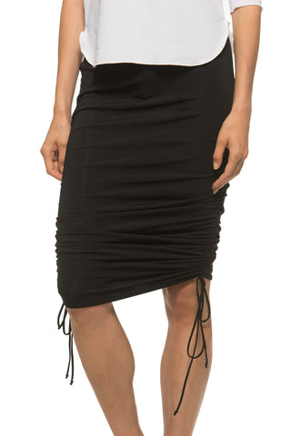 Black Rouched Skirt