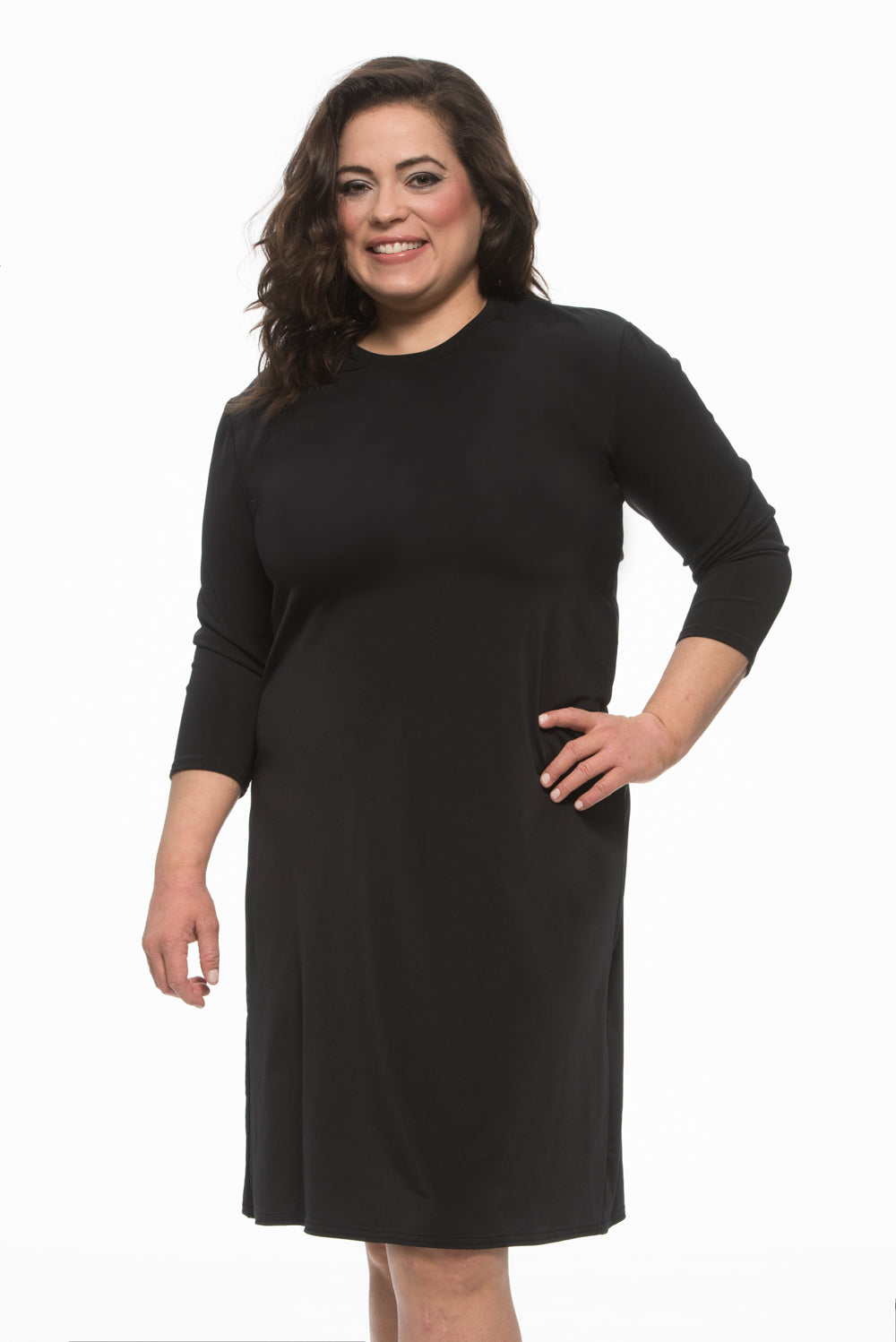 Ladies PLUS Black Swim Dress
