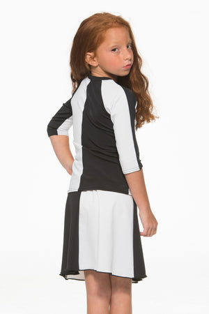Kids Black & White Half & Half 2-Piece Set
