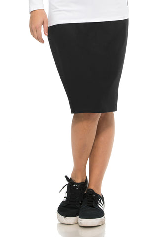 Black Active Pencil Skirt