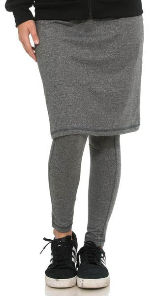 Heather Gray Skirt with Leggings