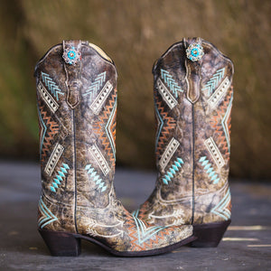 Turquoise Diamonds Boot Jewelry