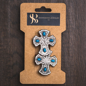 Teal Cross Boot Jewelry
