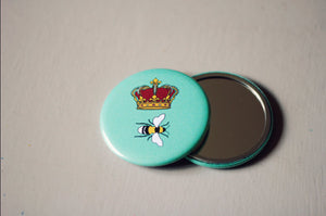 Queen Bee | Pocket Mirror (58mm)