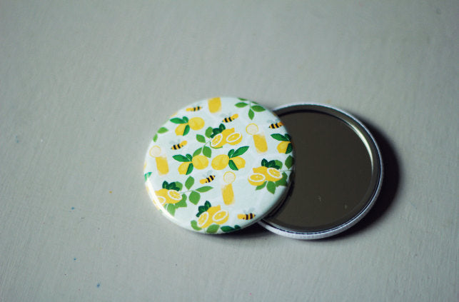 Lemonade Print | Pocket Mirror (58mm)