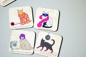 Cats Love Lemonade Coaster Set