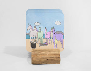 Unicorns Love Solange Coaster Set
