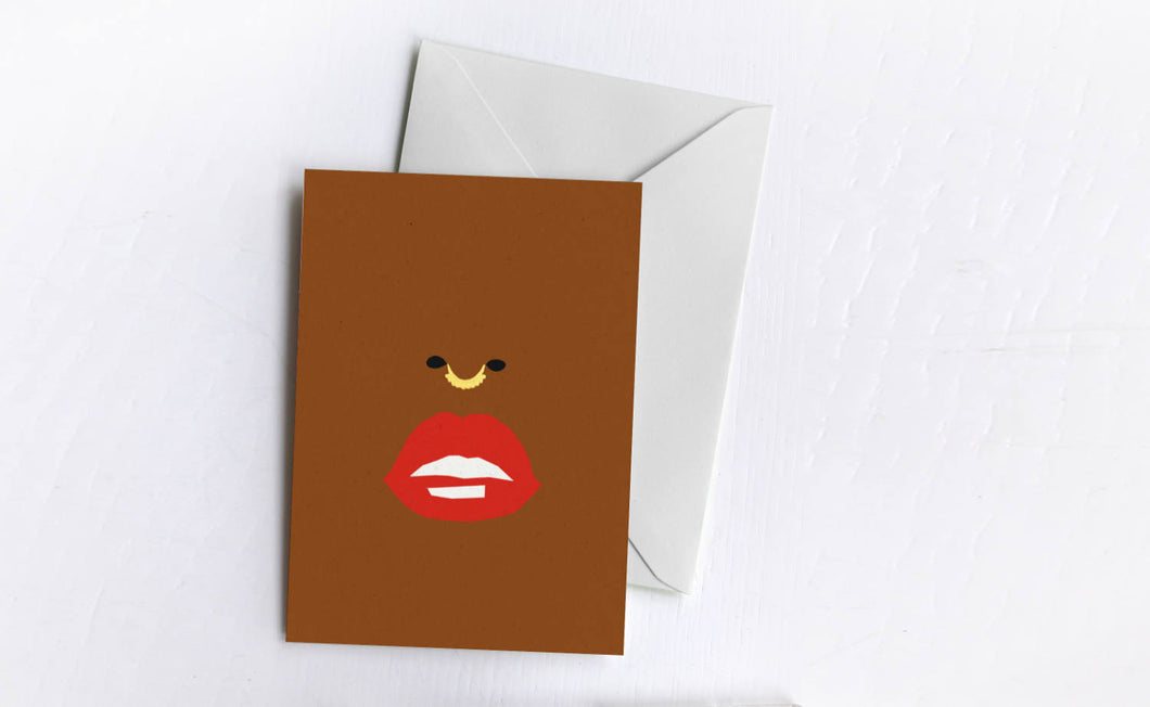 Read My Lips | Blank Greetings Card