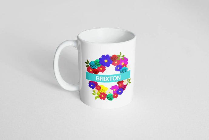 Floral London Underground | Plain Mug