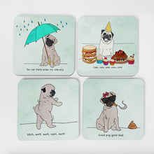 Pugs Love Riri |  Coaster Set (x4)