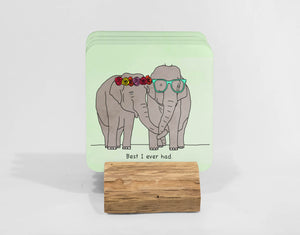 Elephants love Drake |  Coaster Set (x4)