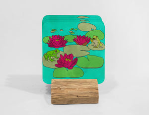 Frogs Love Adele Coaster Set