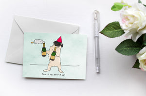 Pugs Love Riri | Pour It Up | Fun Greetings Card