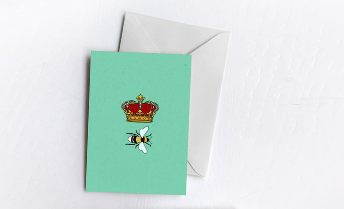Queen Bee Greetings Card