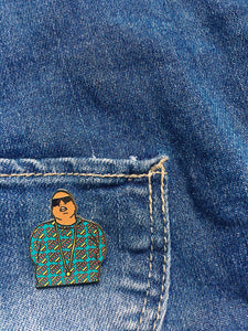 Biggie Enamel Pin | Gold