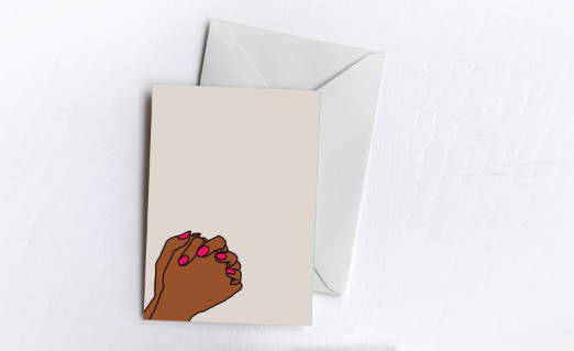 Praying | Greetings Card
