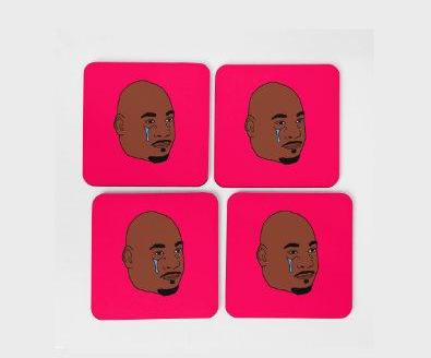 Crying Jordan Coaster Set (x4)