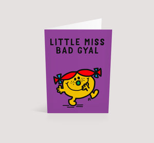 Little Miss Bad Gyal | Blank Greetings Card