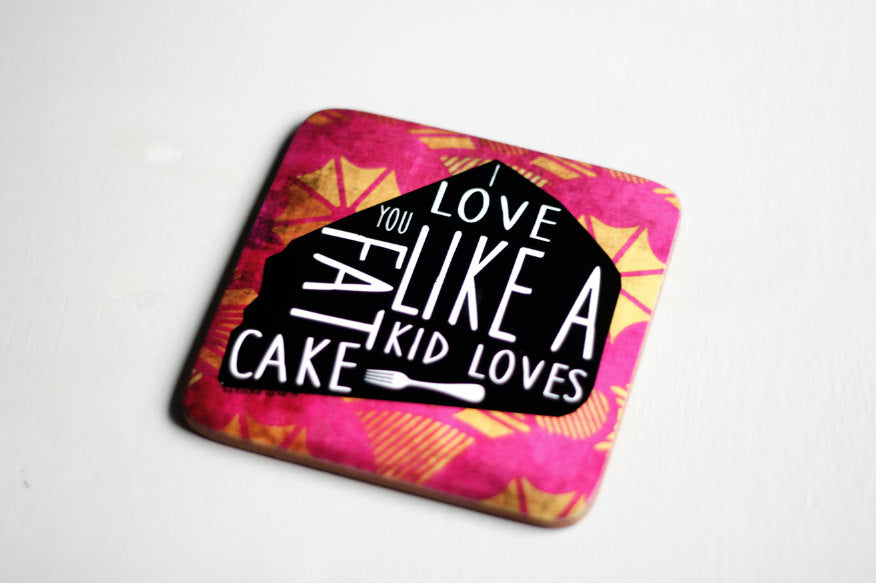 Fat. Kid. Cake. Coaster Set (x4)