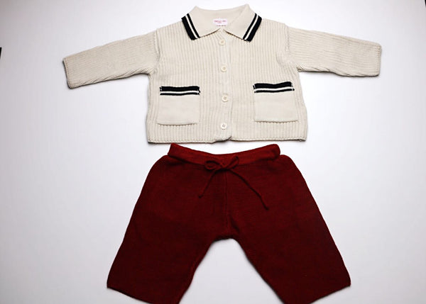 Isabella knitted cardigan and pants 2-piece set