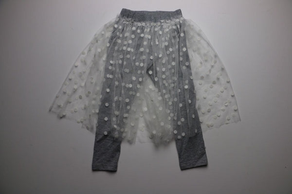 Dot Skirt and Legging, Grey