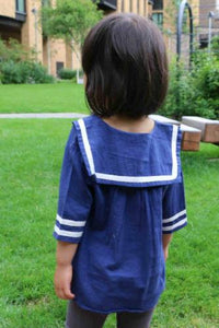 Navy Blouse, Blue