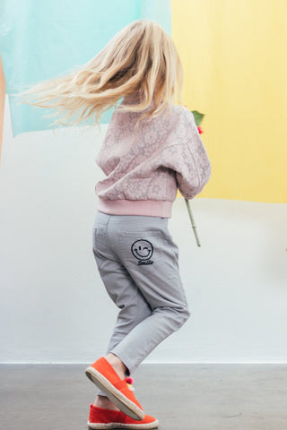 Smiling face trousers, Light Grey