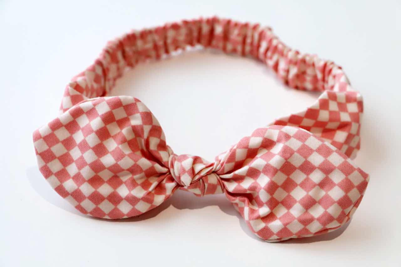 Baby/Toddler Hair Wrap-Gingham Red