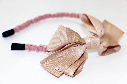 Big Bow Hairband - Cream