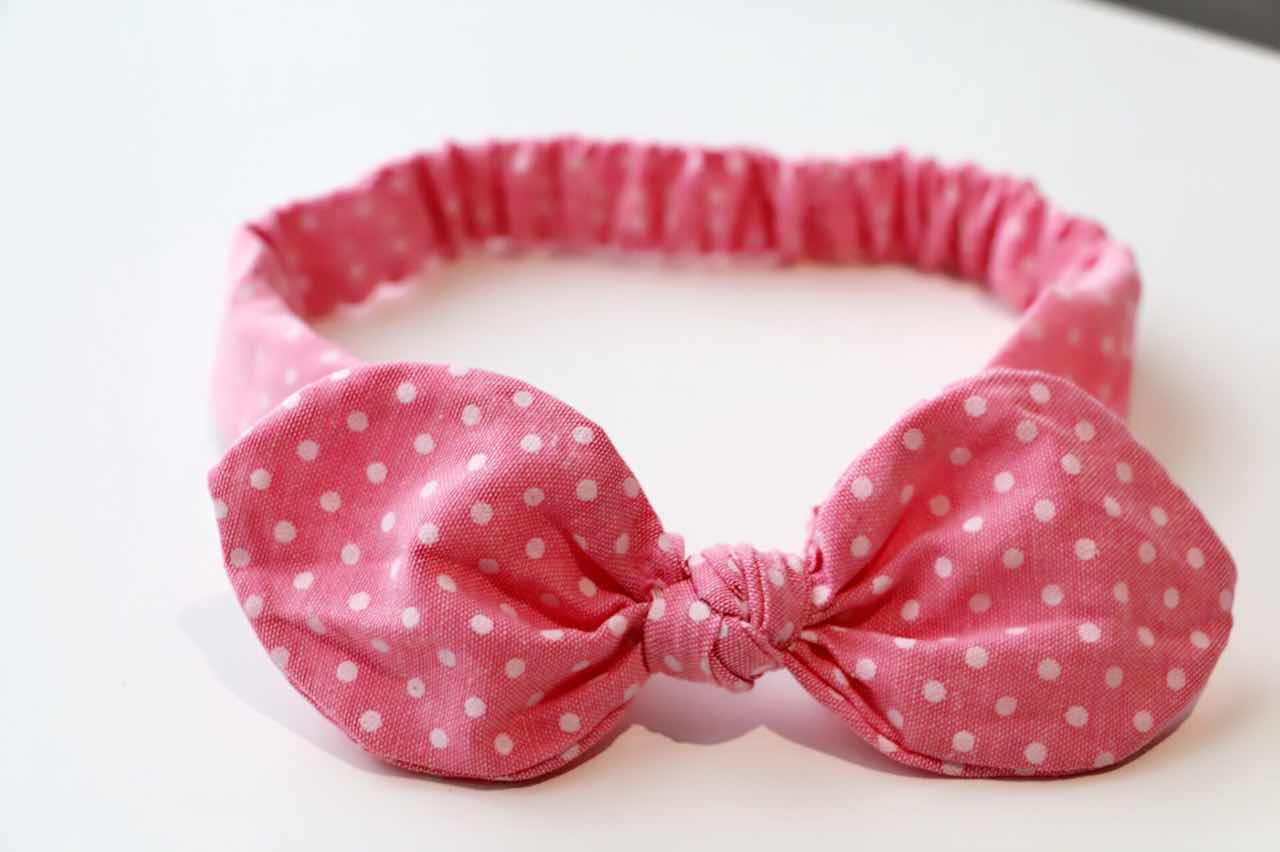 Baby/Toddler Hair Wrap-Dot Red