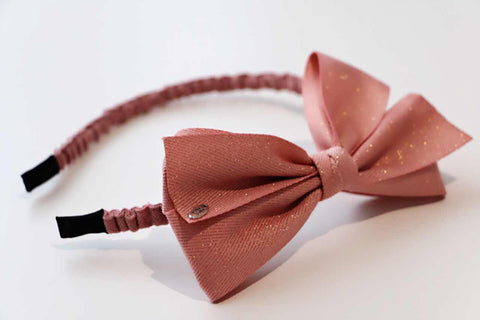 Big Bow Hairband - Dusty Pink