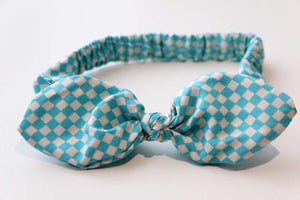 Baby/Toddler Hair Wrap-Gingham Blue