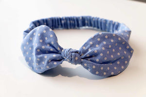 Baby/Toddler Hair Wrap-Dot Blue