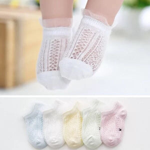 5 Pairs of Cotton Rich Trainer Liner Socks-Girl Straight Line pattern