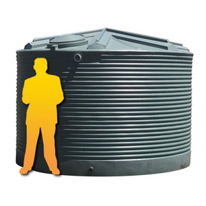 13500LTR Corrugated Poly Domestic Water Tank-Water Tanks - Perth Only-Land and Water Technology