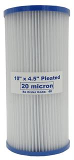 "Sediment Filters 10"" x 4.5"" Polyester Pleated"
