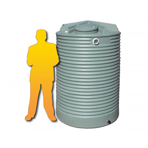 2500LTR Corrugated Poly Domestic Water Tank-Water Tanks - Perth Only-Land and Water Technology (550543818815)