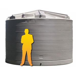 32000LTR Corrugated Poly Domestic Water Tank-Water Tanks - Perth Only-Land and Water Technology