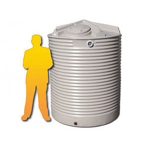 3500LTR Corrugated Poly Domestic Water Tank-Water Tanks - Perth Only-Land and Water Technology (550547914815)