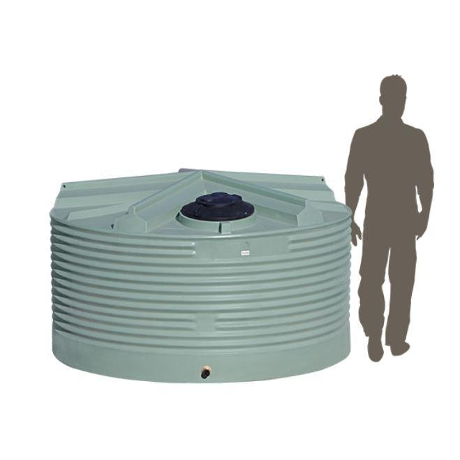 4500LTR Squat Corrugated Poly Domestic Water Tank