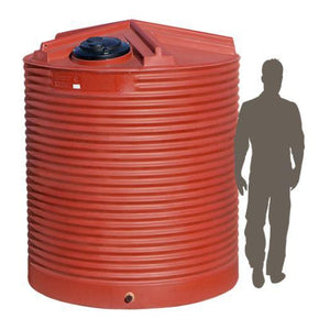 4500LTR Corrugated Poly Domestic Water Tank