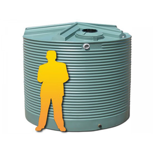 9000LTR Corrugated Poly Domestic Water Tank-Water Tanks - Perth Only-Land and Water Technology