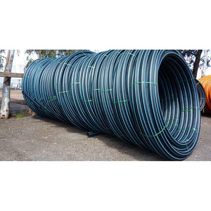 25mm Metric Blueline Poly Pipe Coil PN12.5 - PICKUP PERTH ONLY